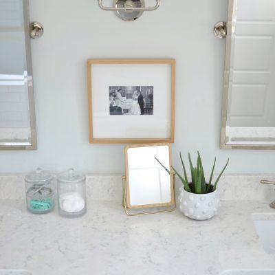 white quartz in a bathroom