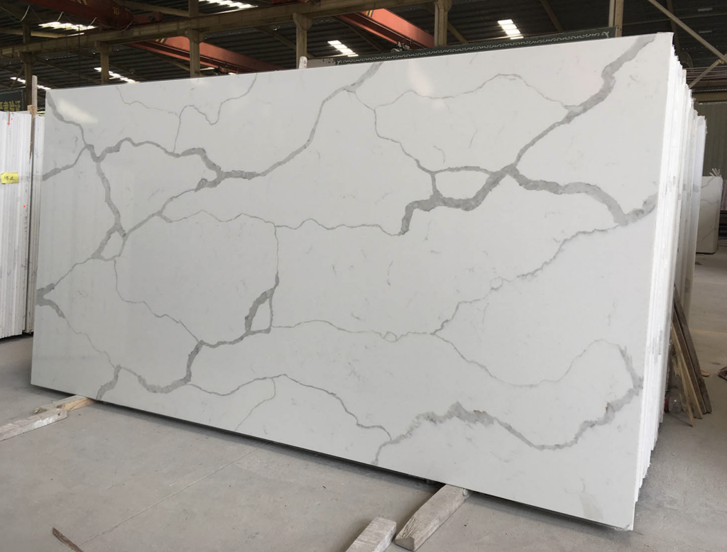 a large slab of quartz in a showroom