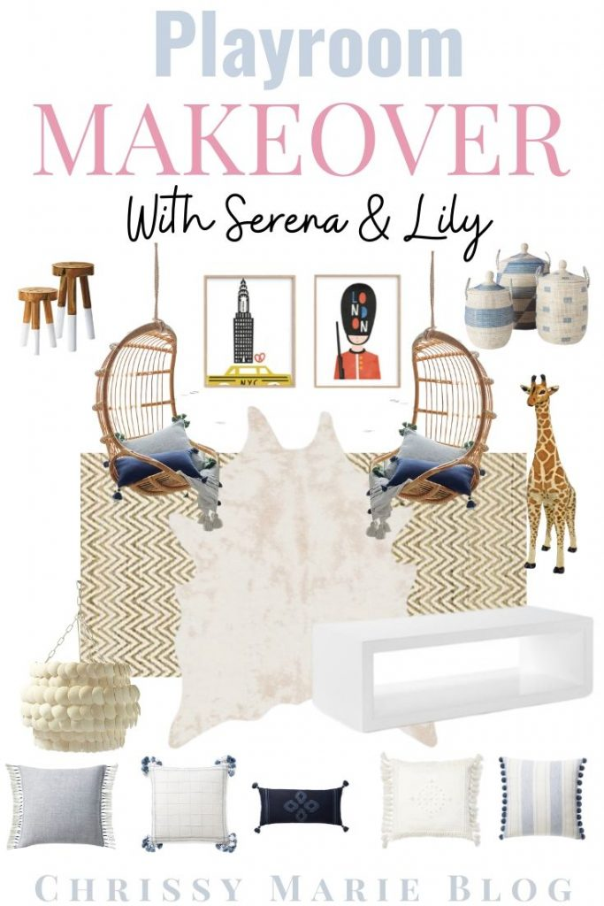 a moodboard for a playroom