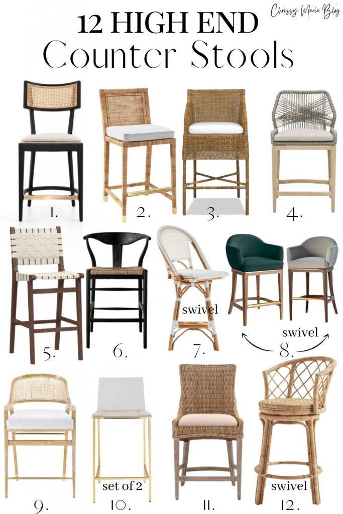 26 Kitchen Island Chairs Measurements, Kitchen Island Chairs With Backs
