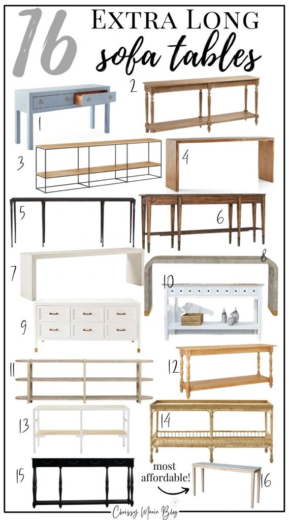 16 Long Sofa Tables To Go Behind Your Couch Chrissy Marie Blog - Behind Couch Sofa Table Decor Ideas